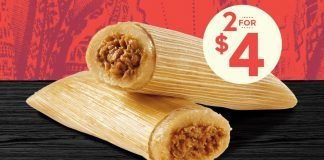 Del Taco new 2 For $6 Tamales Deal hero