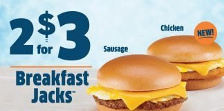 Jack In The Box Offers New Chicken Breakfast Jack As Part Of Its 2 For $3 Breakfast Jacks Deal