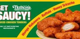 Nathan's Famous new Sauced Chicken Tenders hero