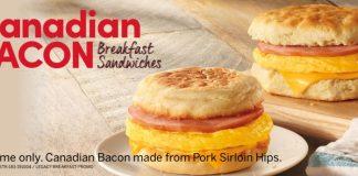 Tim Hortons new Canadian Bacon Breakfast Sandwiches hero