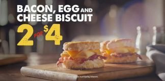 Bojangles' 2 for $4 Bacon, Egg and Cheese Biscuit deal hero