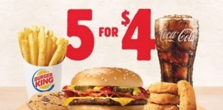 Burger King 5 for $4 Meal Deal hero