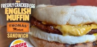 Burger King Tests New Freshly Cracked Egg English Muffin Sandwich