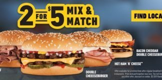 Hardee's new 2 for $5 Mix and Match Deal hero