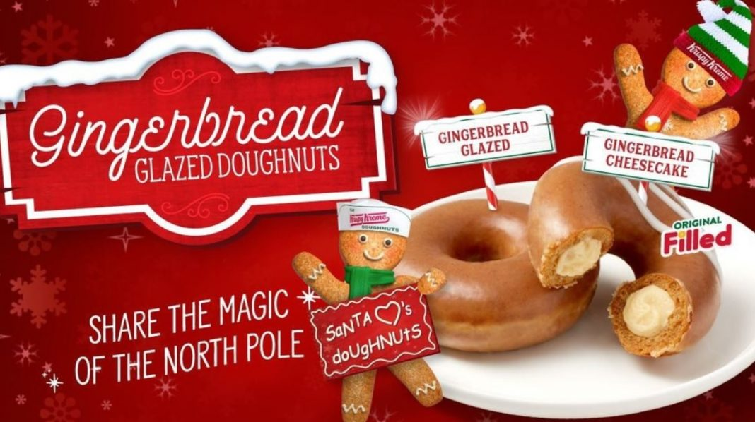 Krispy Kreme Gingerbread Glazed Doughnuts hero