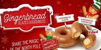 Krispy Kreme Gingerbread Glazed Doughnuts hero