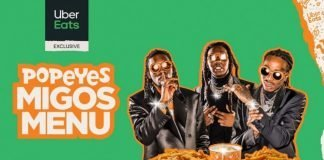 Popeyes and Uber Eats New Migos Menu hero