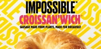 Burger King new Impossible Croissan'wich with sausage made from plants hero