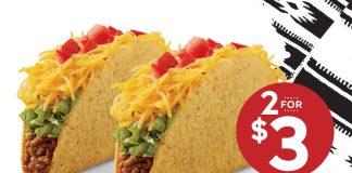 Del Taco 2 for $3 Turkey Del Tacos hero