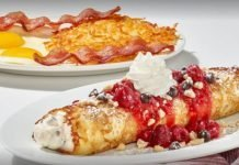 IHOP New Raspberry Cannoli Crepes