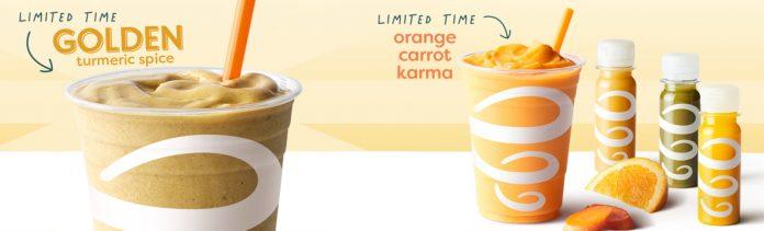 Jamba New Plant-Based Golden Turmeric Spice And Orange Carrot Karma hero