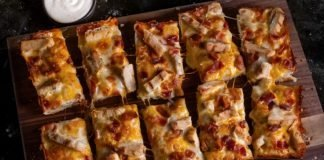 Jet's Pizza Chicken Bacon Ranch Pizza