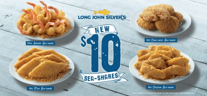 Long John Silver's new $10 Sea-Shares promo hero