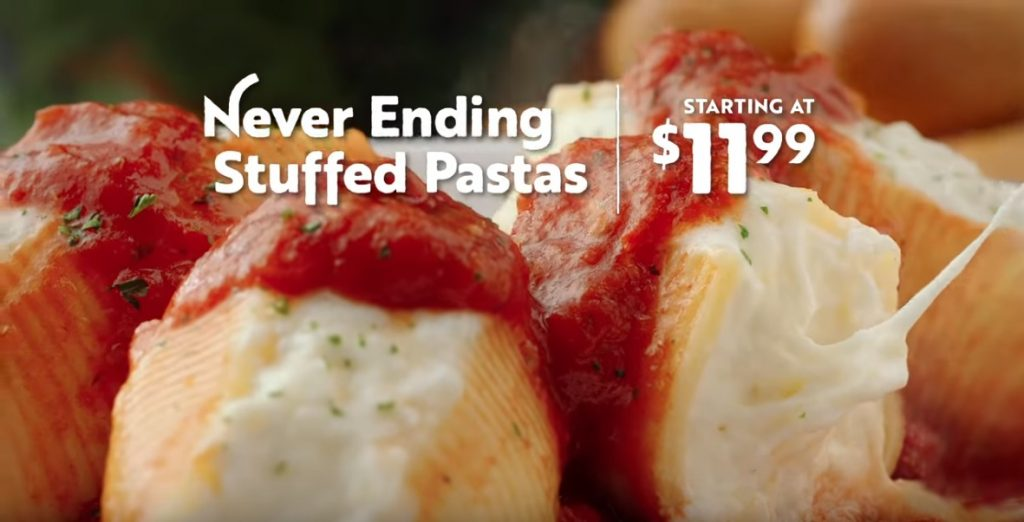Olive Garden Offers New Cheese Stuffed Shells And Stuffed Ziti