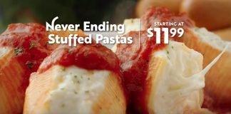Olive Garden Never Ending Stuffed Pastas hero