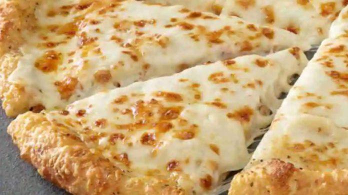 Papa John's New Extra Cheesy Alfredo Garlic Parmesan Crust Pizza