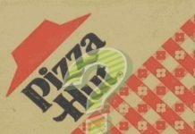 Pizza Hut box with question mark on top