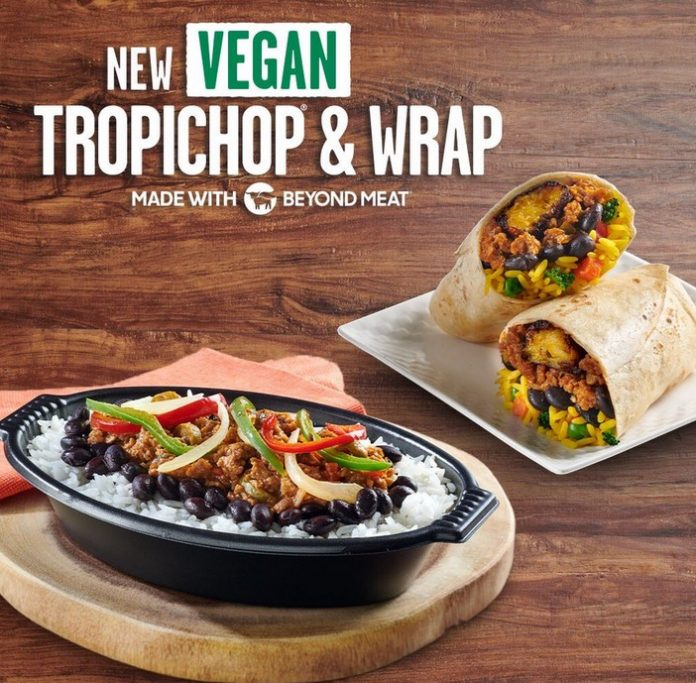 Pollo Tropical New Vegan Tropichop And Wrap Made With Beyond Meat hero