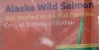Subway Alaska Wild Salmon sub hero