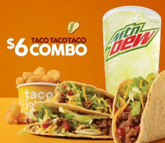 Taco John's $6 Taco Taco Taco Combo deal hero