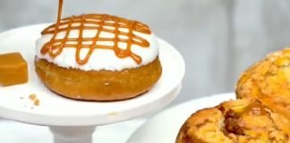 Tim Hortons new Caramel Macchiato Donut & Timbits And New Cinnamon Coffee Cake Muffin hero