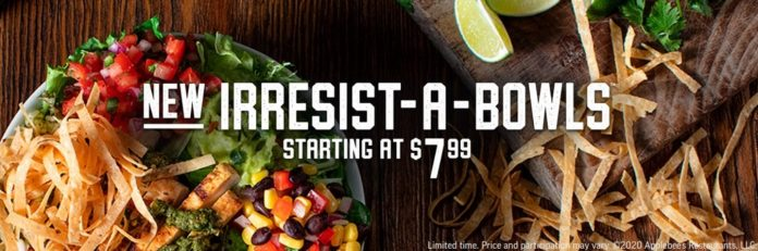 Applebee S Launches New Irresist A Bowls The Fast Food Post