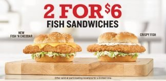 Arby's 2 For $6 Sandwiches deal hero
