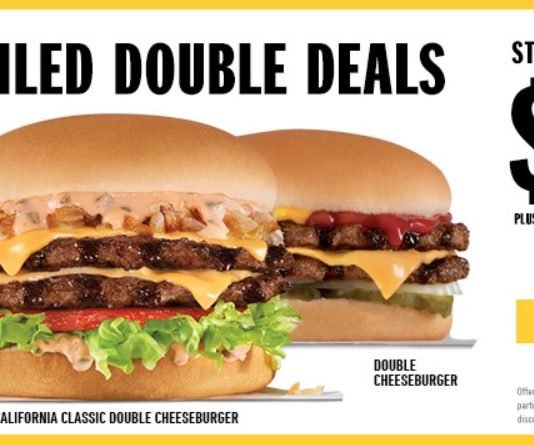 Carl's Jr. Charbroiled Double Deals hero