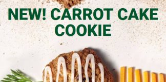 Subway new Carrot Cake Cookie hero