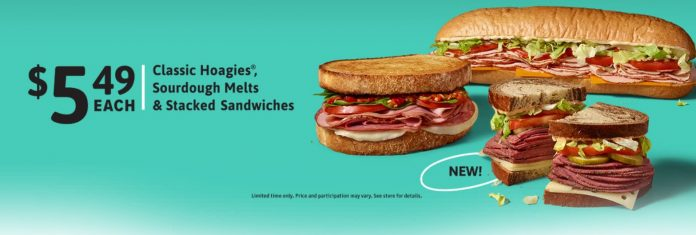 Wawa new Stacked Sandwiches and $5.49 Classics & Sandwiches promotion hero