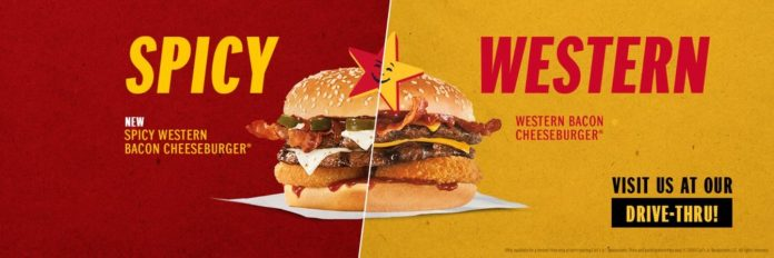 Carl's Jr. new Spicy Western Bacon Cheeseburger