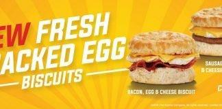 Krystal New Fresh Cracked Egg Biscuits