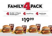 Steak 'n Shake new Family 4 Pack Meal Deal hero