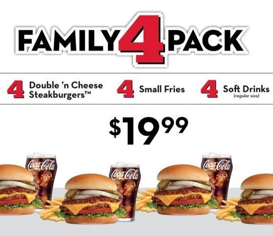 Steak 'n Shake new Family 4 Pack Meal Deal hero