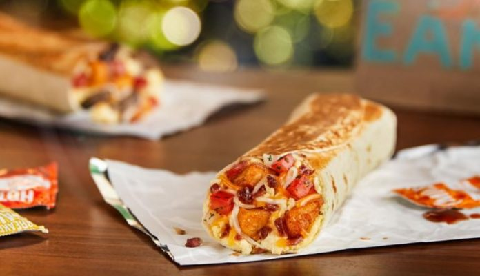 Taco Bell new Grande Toasted Breakfast Burrito hero