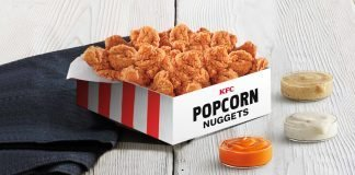 KFC $10 Popcorn Chicken Nuggets Box