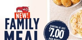 Red Lobster new Family Meal Deals hero