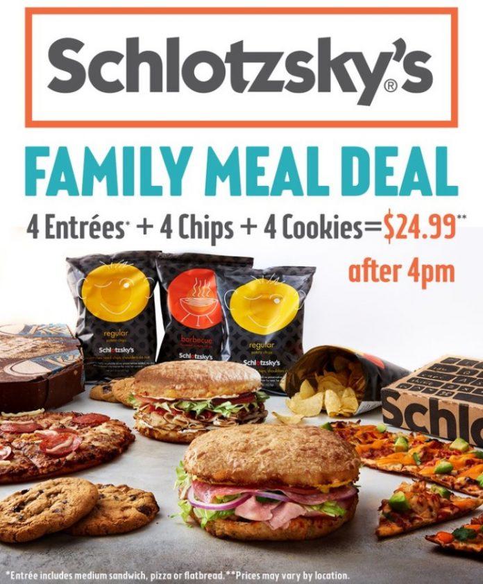 Schlotzsky's Reveals New Family Meal Deal