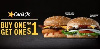Carl's Jr. And Hardee's Offer New Buy One, Get One For $1 Western Bacon Cheeseburger Or Famous Star With Cheese Deal