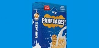 IHOP Panflakes Cereal box