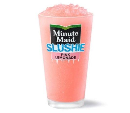 McDonald's New Minute Maid Pink Lemonade Slushie