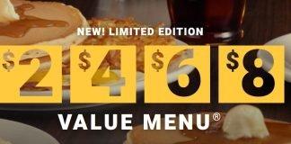 2468 Value Menu Is Back At Denny's