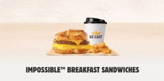 Burger King new Impossible Breakfast Sandwiches