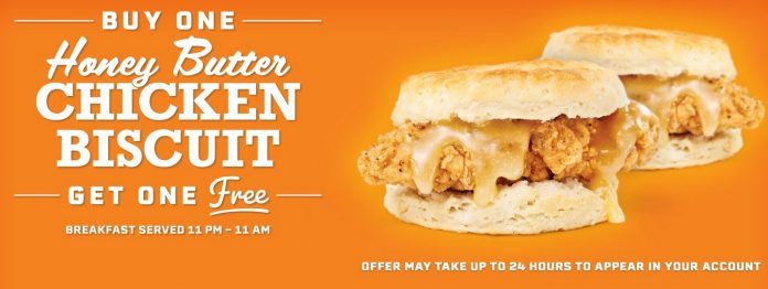 Buy One Honey Butter Chicken Biscuit And Get One Free Deal At Whataburger