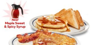 IHOP Tops New Kickin' Maple Chicken BreakFEAST With New Maple Sweet & Spicy Syrup