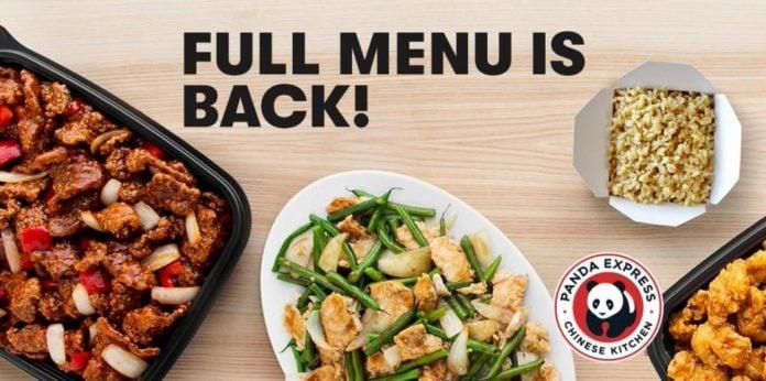 Panda Express full menu is back hero