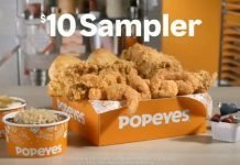 Popeyes New $10 Sampler hero