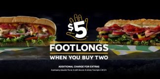 Subway Offers 2 Footlongs For $10 With The Return Of Its $5 Footlong Deal