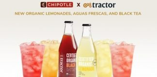 Chipotle Offers New Organic Lemonades, Aguas Frescas And Tea With Tractor Beverage Company