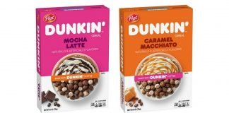 Dunkin' And Post New Caramel Macchiato Cereal And New Mocha Latte Cereal